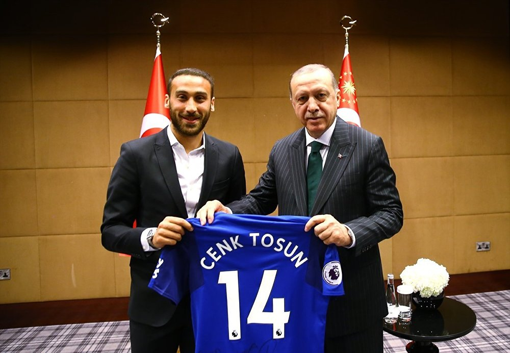Cumhurbaşkanı Recep Tayyip Erdoğan, Cenk Tosun