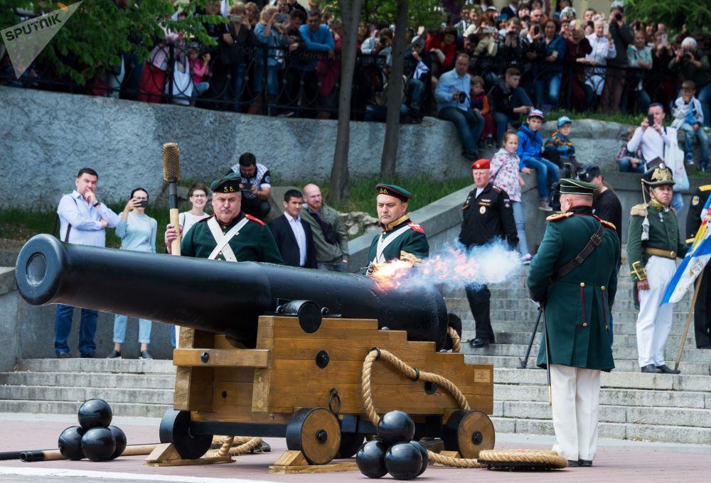 Sivastopol'da Rusya Karadeniz Filosu'nun 235. yıldönümü kutlamaları