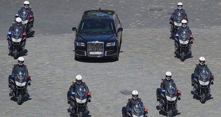 Rusya Devlet Başkanı Vladimir Putin'in limuzini Aurus Senat