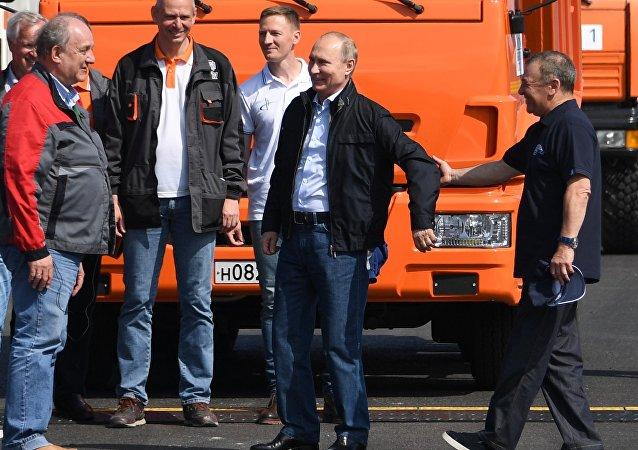 Rusya Devlet Başkanı Vladimir Putin Kırım Köprüsü'nün açılışında