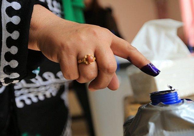seçim, parmak boyası