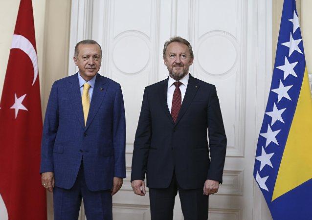 Cumhurbaşkanı Recep Tayyip Erdoğan- Bosna Hersek Devlet Başkanlığı Konseyi Başkanı Bakir İzzetbegovic