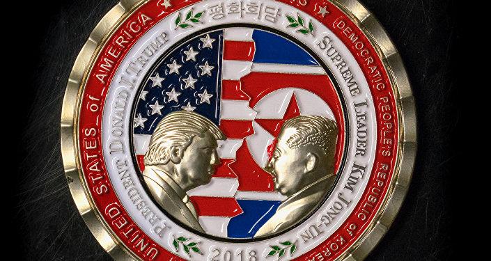 12 Haziran'da Singapur'da yapılacak Trump-Kim zirvesi için üç hafta öncesinden hatıra parası