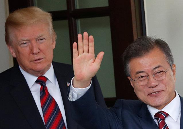 ABD Başkanı Donald Trump ve Güney Kore Başkanı Moon Jae-in
