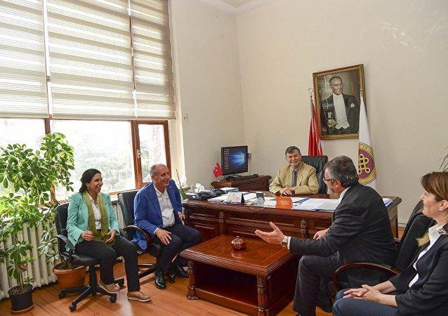 Cerrahpaşa Tıp Fakültesi Dekanı Prof. Dr. Alaattin Duran, CHP ziyareti