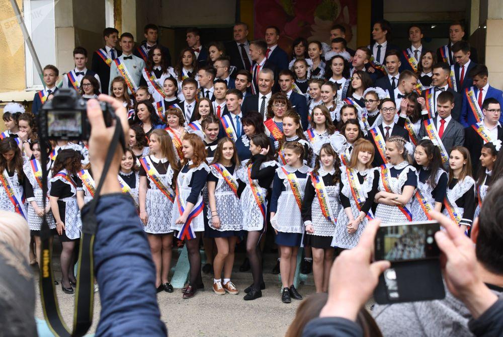 Rusya'daki okullarda son zil etkinliği