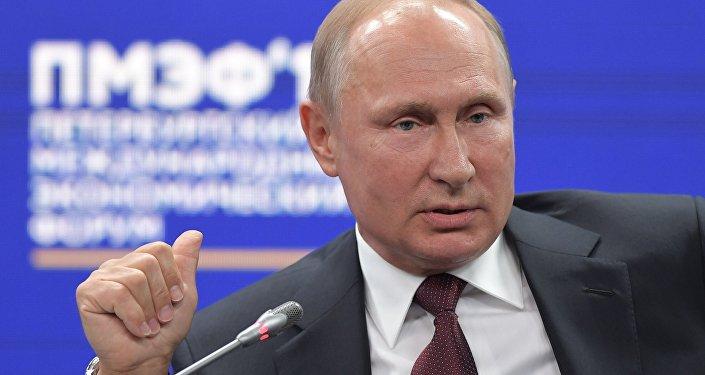 Rusya Devlet Başkanı Vladimir Putin- SPIEF