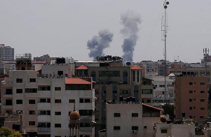 İsrail uçaklarının Gazze'de vurduğu bölge