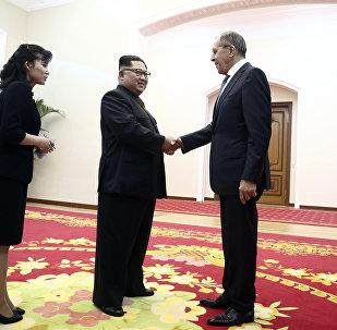 Rusya Dışişleri Bakanı Sergey Lavrov-Kuzey Kore lideri Kim Jong-un