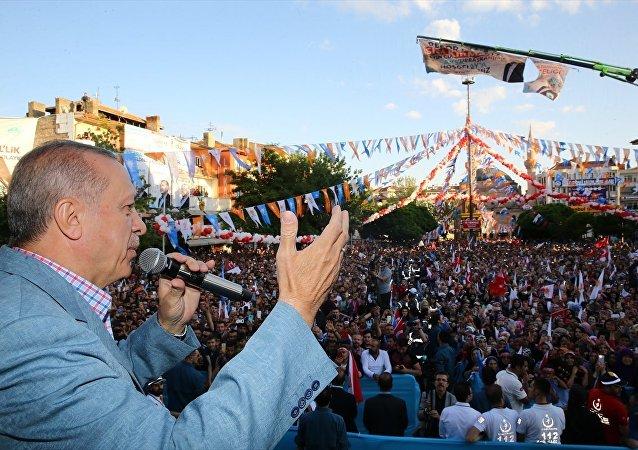 Erdoğan Aksaray mitinginde