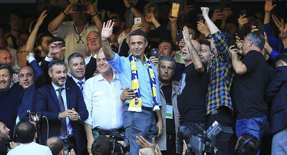 Fenerbahçe Kulübü Olağan Genel Kurulu'nda seçimi kazanan Ali Koç