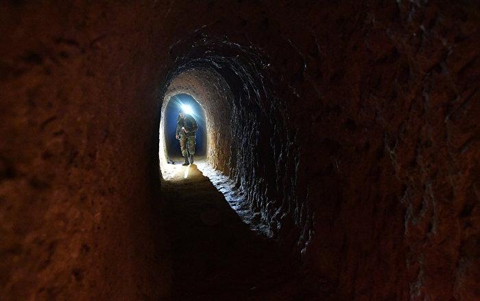 Şam yakınlarında militanların kazdığı 27 km'lik tüneller bulundu