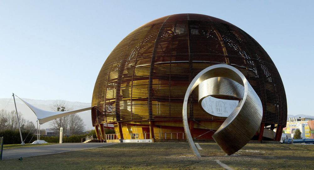 Globe of Science and Innovation at the European Organisation for Nuclear Research (CERN) in Meyrin, near Geneva