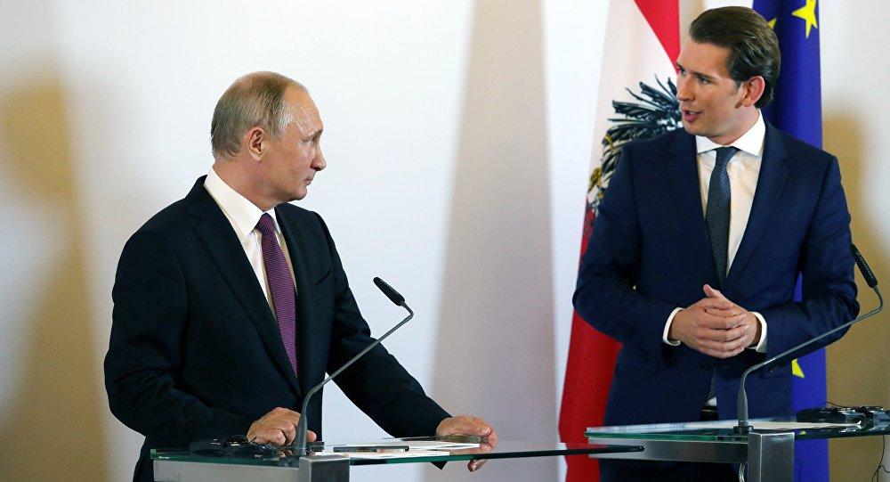 Rusya Devlet Başkanı Vladimir Putin- Avusturya Başbakanı Sebastian Kurz