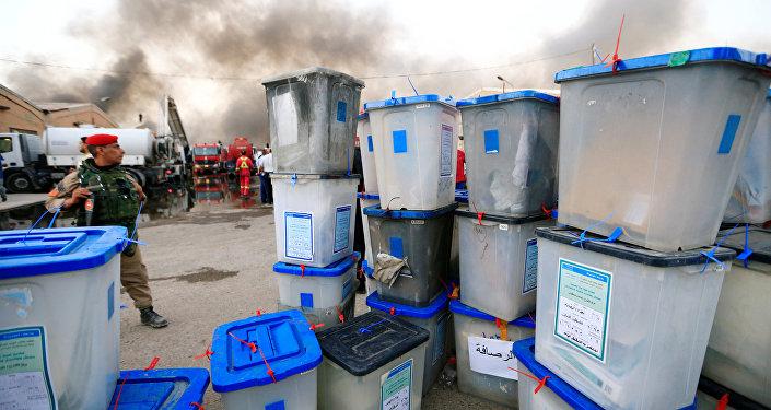 Irak'ta seçim sandıkları kül oldu