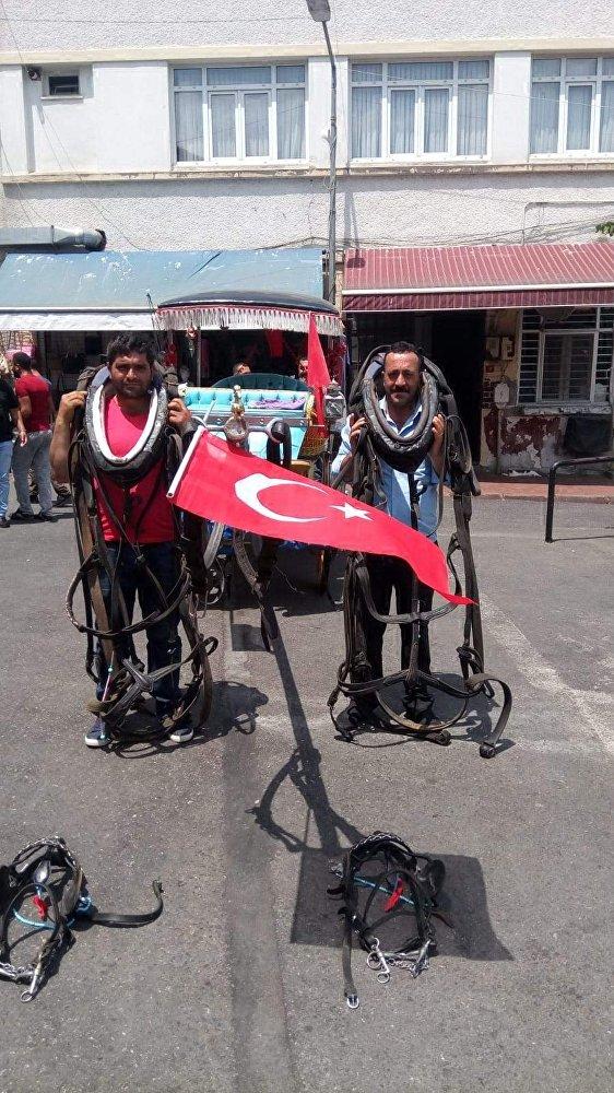 Büyükada'da faytonculardan protesto: 'Atsız olmaz'