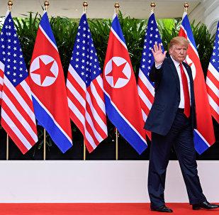 Donald Trump, Kuzey Kore bayrağı