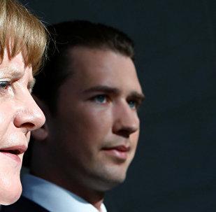 Almanya Başbakanı Angela Merkel ve Avusturya Başbakanı Sebastian Kurz