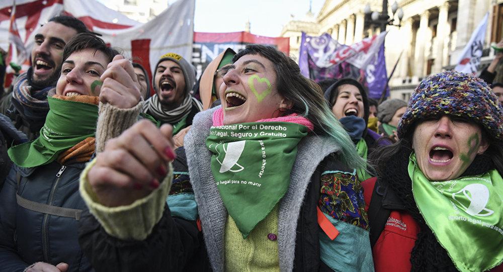 Arjantin'de Kürtaj eylemi