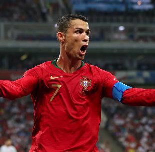 2018 FIFA Dünya Kupası'daki Portekiz-İspanya maçında Cristiano Ronaldo