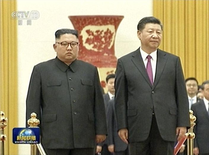 Çin Devlet Başkanı Şi Cinping-Kuzey Kore lideri Kim Jong-un