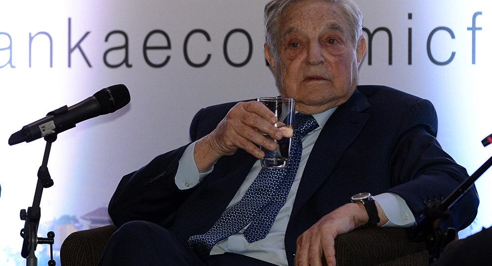 Macaristan doğumlu ABD'li George Soros bir ekonomik forumda