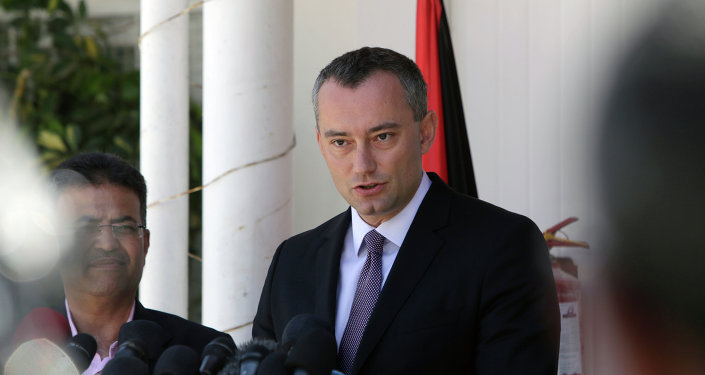 United Nations' Middle East peace envoy, Nickolay Mladenov