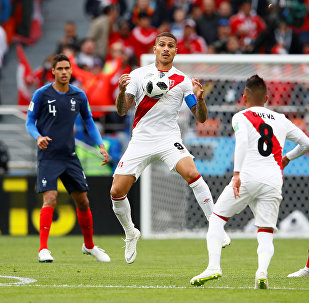 Soccer Football - World Cup - Group C - France vs Peru - Ekaterinburg Arena, Yekaterinburg, Russia - June 21, 2018 Peru's Paolo Guerrero in action