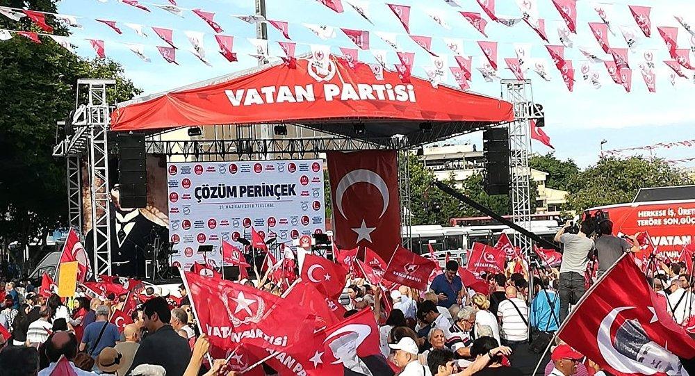 Vatan Partisi'nden Beşiktaş'ta seçim mitingi