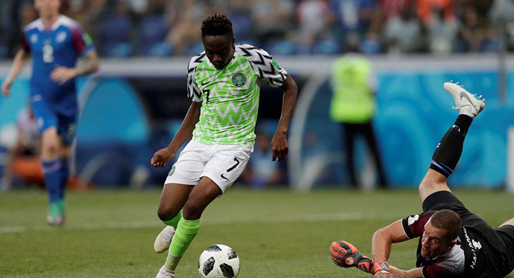 Dünya Kupası'nda Nijerya'nın İzlanda karşısındaki iki golünü Ahmed Musa attı.