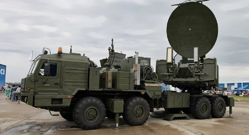 Russia's Krasukha-2 Electronic Warfare System deployed at a military expo.