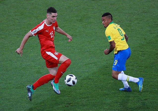Serbia - Brazil World Cup Match. 2018