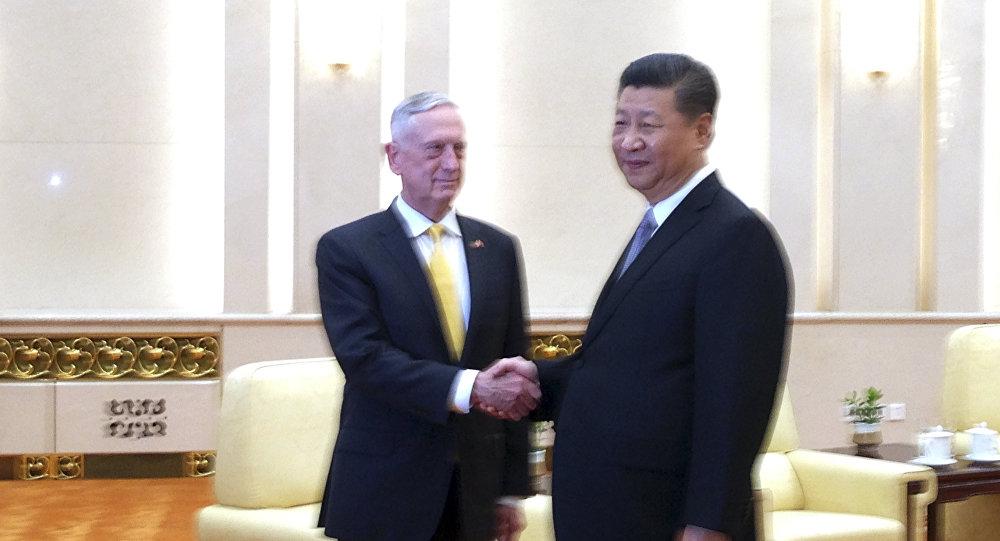 Çin Devlet Başkanı Şİ Cinping- ABD Savunma Bakanı James Mattis
