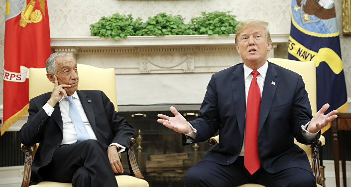 ABD Başkanı Donald Trump-Portekiz Cumhurbaşkanı Marcelo Rebelo de Sousa
