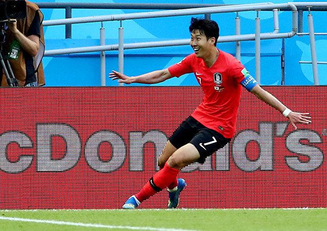 2018 Dünya Kupası'nda Güney Kore'nin Almanya'ya 2. golünü atan Son Heung-min