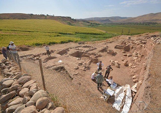 Siirt'teki Başur Höyük kazı alanı