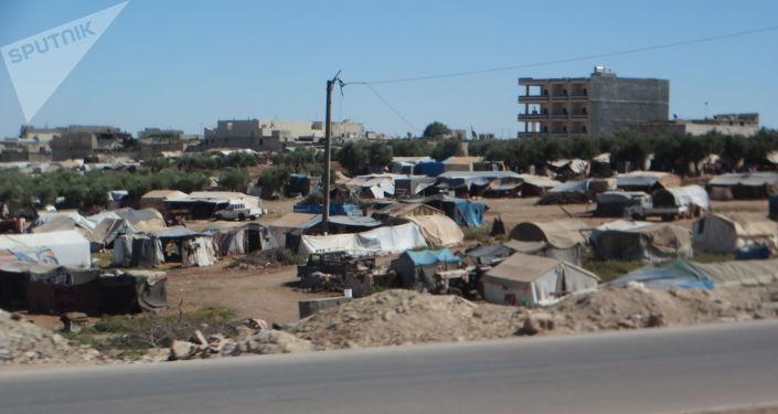 Suriye'nin Azaz şehrindeki çadır kent