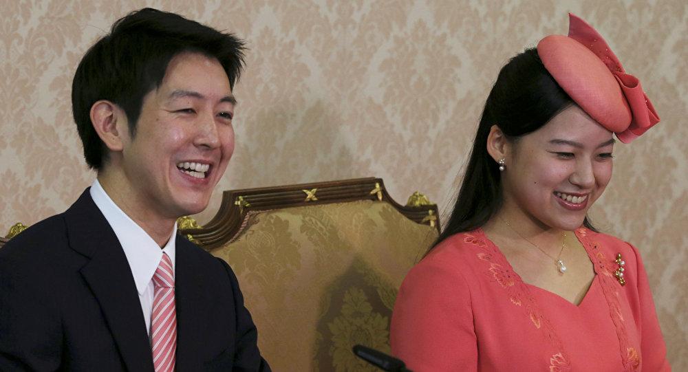 Prenses Ayako ile nişanlısı Kei Moriya