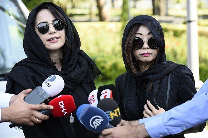 i Naim Süleymanoğlu'nun kızı olduğunu iddia eden Sekai Mori (sağda).