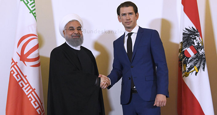 İran Cumhurbaşkanı Hasan Ruhani- Avusturya Başbakanı Sebastian Kurz