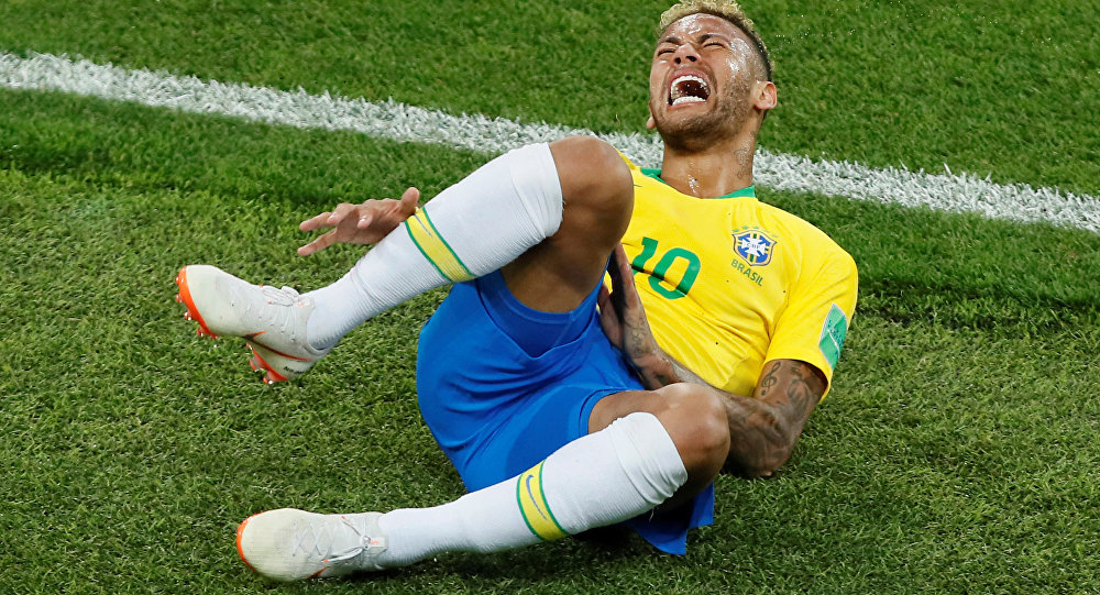 2018 FIFA Dünya Kupası, Sırbistan-Brezilya maçında Neymar