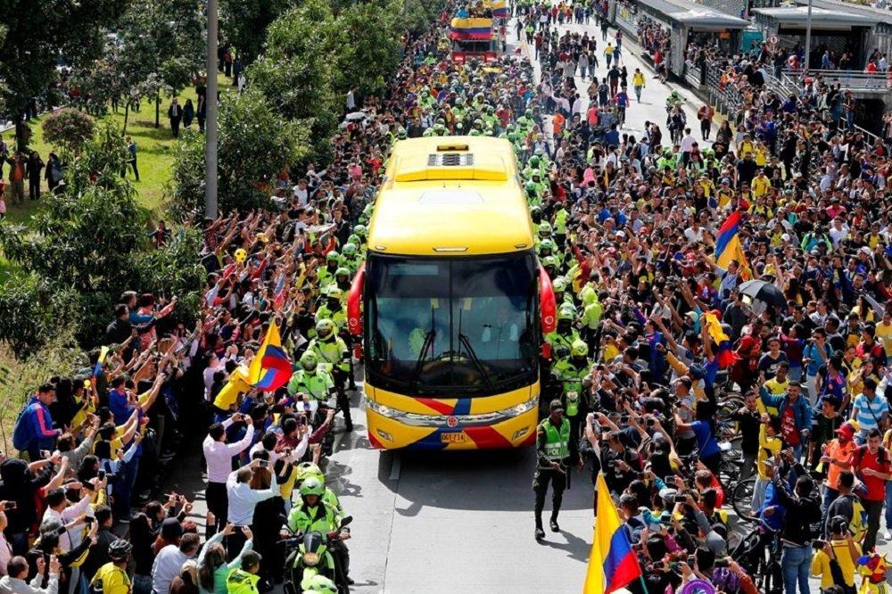 Kolombiya Milli Takımı'na çoşkulu karşılama