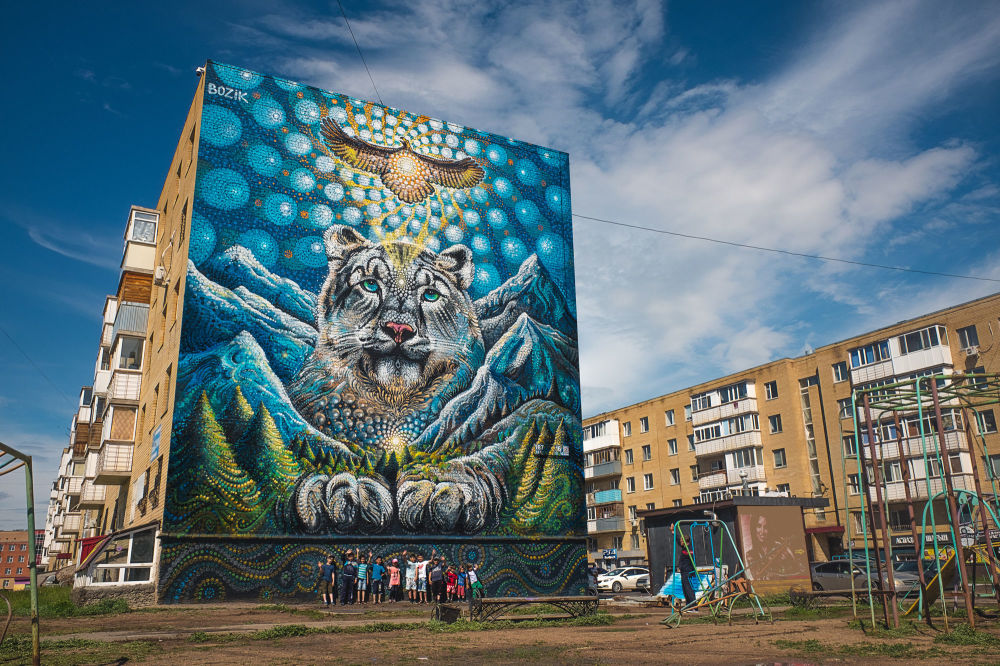 Astana'da sokak sanatı