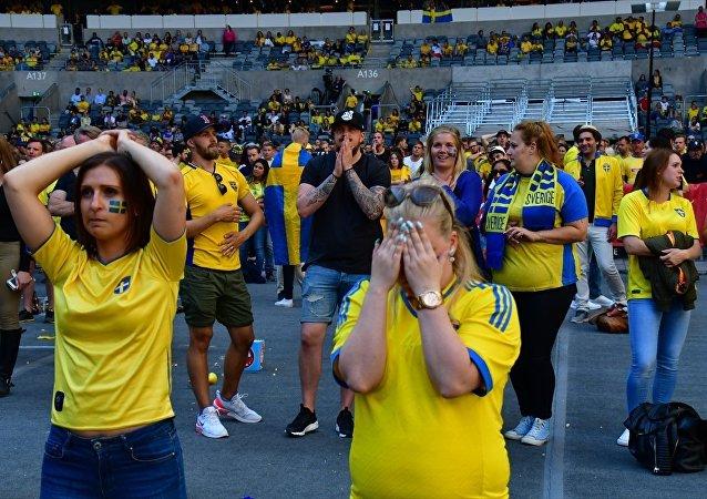 İsveç'in 2018 FIFA Dünya Kupası çeyrek final turunda İngiltere'ye 2-0 yenilerek elenmesi, ülkede büyük üzüntü oluşturdu