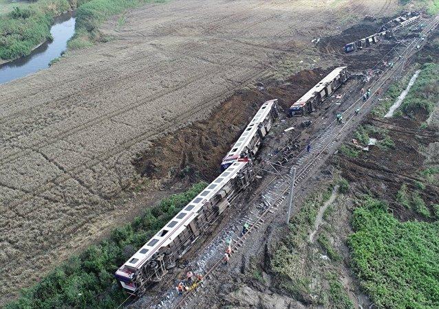 Tekirdağ-Çorlu, tren kazası.