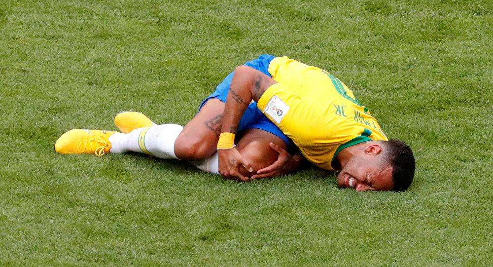 2018 FIFA Dünya Kupası Brezilya-Meksika maçında Neymar