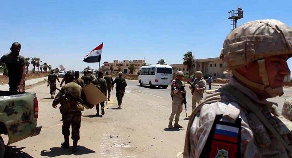 Dera Valisi: Militanların kalesi olan Bosra el Şamda Suriye bayrağı dalgalanıyor