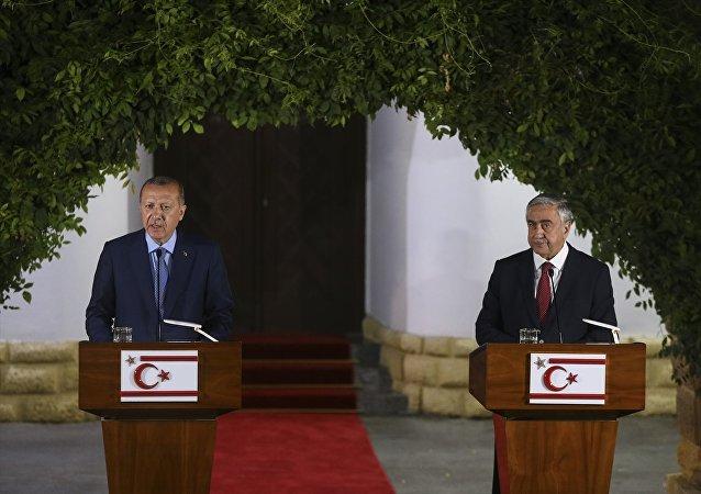 Erdoğan-Akıncı ortak basın açıklaması