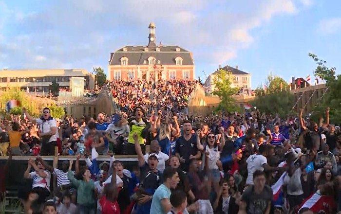 Fransız taraftarlardan final sevinci