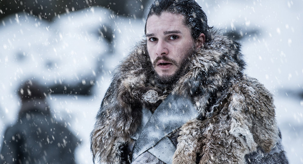 Kit Harington portrays Jon Snow in a scene from the seventh season of HBO's Game of Thrones.